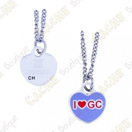 "Geocoin Colar ""I love GC"""