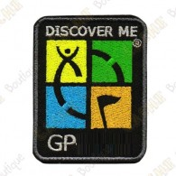Patch Geocaching trackable - Quadricolor / Preto
