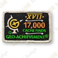 Geo Achievement® 17 000 Finds - Parche