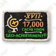 Geo Achievement® 17 000 Finds - Patch