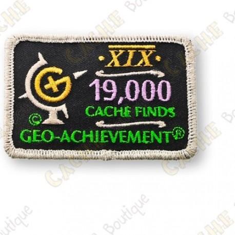 Geo Achievement® 19 000 Finds - Parche