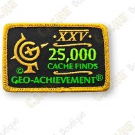 Geo Achievement® 25 000 Finds - Patch