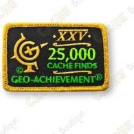 Geo Achievement® 25 000 Finds - Patch