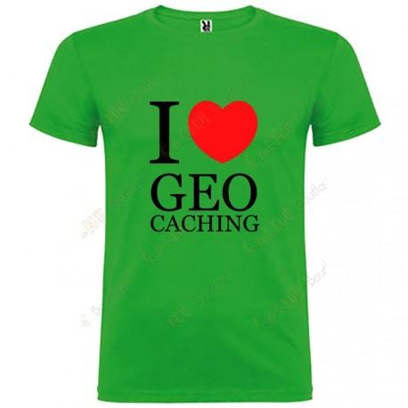 "T-shirt ""I love Geocaching"" Criança"