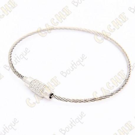 Llavero cable de acero - Lote de 5