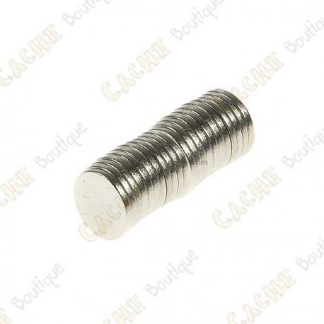 Magnets neodymes 8mm - Lot de 5