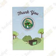 """Cartão conm Geocoin """"Thank you"""""""