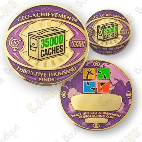 Geo Achievement® 35 000 Finds - Coin + Pin