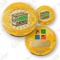 Geo Achievement® 40 000 Finds - Coin + Pin