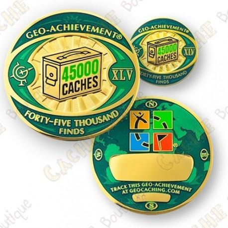 Geo Achievement® 45 000 Finds - Coin + Pin