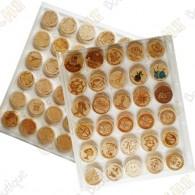6 Bandejas para Wood coins - 30 caixas