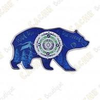 """Geocoin """"Bear"""" - Azul - Limited Edition"""