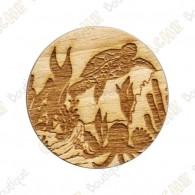 Géocoin en bois - Créatures