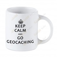 Mug Geocaching blanc - Keep Calm