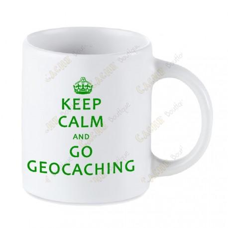 Taza Geocaching blanca - Keep Calm