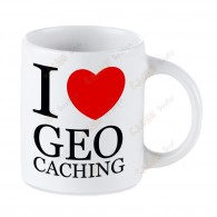 Mug Geocaching blanc - I love Geocaching