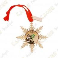 """Géocoin """"Signal ornament"""" Gold - Arbre de Noël"""