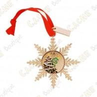 "Geocoin ""Signal ornament"" Gold - Christmas Tree"