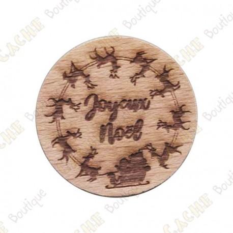 Wooden coin - Joyeux Noël