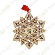 "Géocoin ""Signal ornament"" Snowflake - Renne"