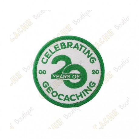 """Parche """"20 Years of Geocaching"""""""