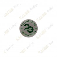"Micro Coin ""20 Years of Geocaching"""