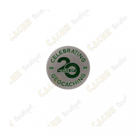 """Micro Coin """"20 Years of Geocaching"""""""
