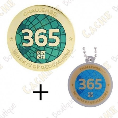 "Geocoin + Travel Tag ""Challenge"" - 365 days"