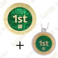 """Geocoin + Traveler """"Milestone"""" - 1st Find"""
