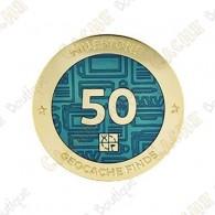 "Geocoin ""Milestone"" - 50 Finds"