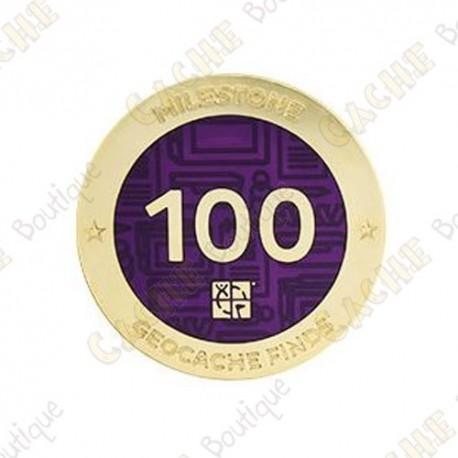 "Geocoin ""Milestone"" - 100 Finds"