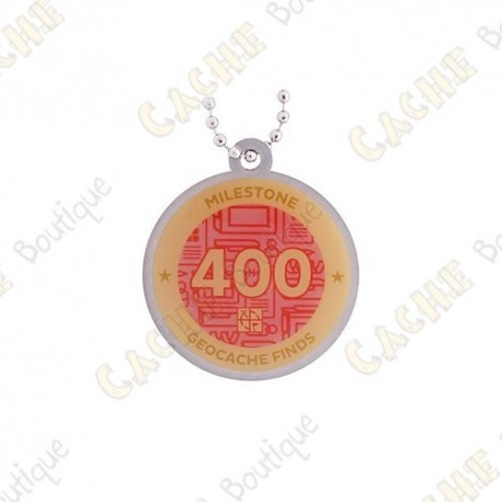 """Travel tag """"Milestone"""" - 400 Finds"""