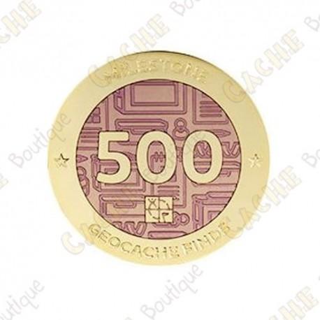 "Geocoin ""Milestone"" - 500 Finds"
