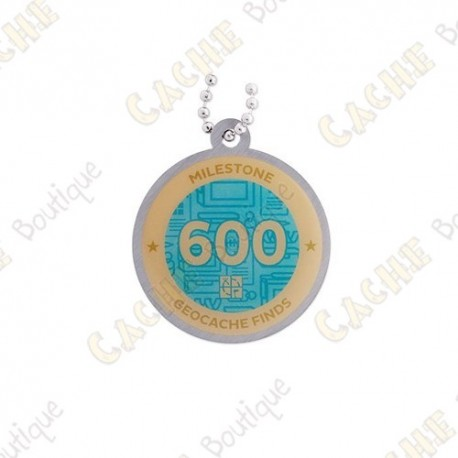 """Travel tag """"Milestone"""" - 600 Finds"""