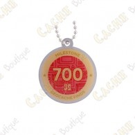 "Travel tag ""Milestone"" - 700 Finds"