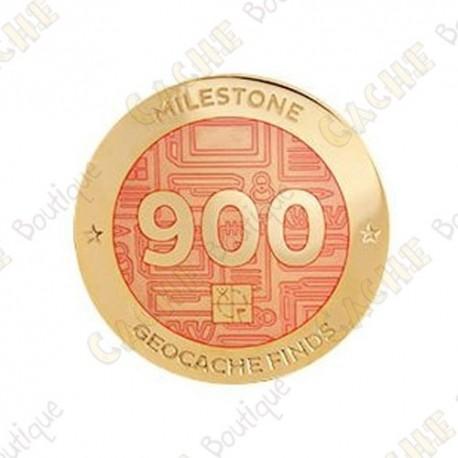 "Geocoin ""Milestone"" - 900 Finds"