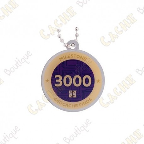 """Travel tag """"Milestone"""" - 3000 Finds"""