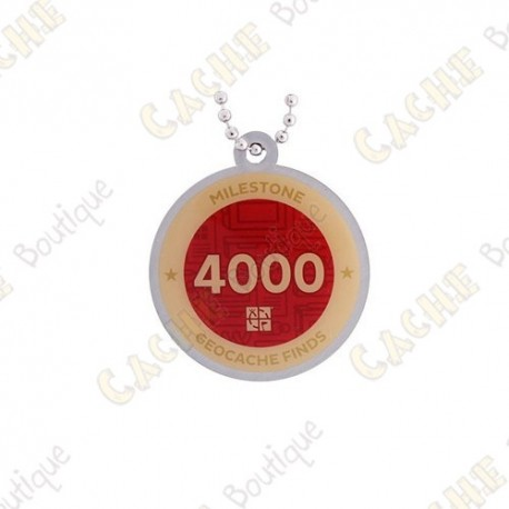 "Travel tag ""Milestone"" - 4000 Finds"