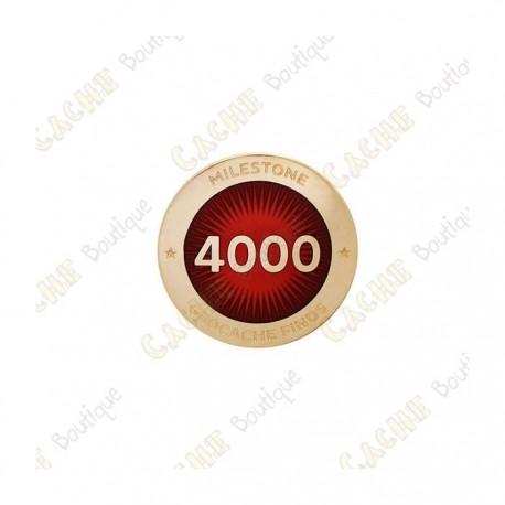 """Pin's """"Milestone"""" - 4000 Finds"""