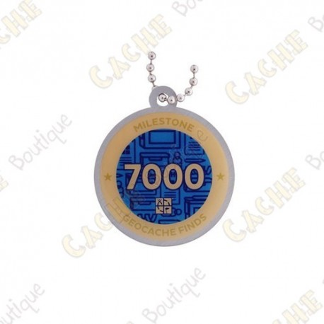 """Travel tag """"Milestone"""" - 7000 Finds"""