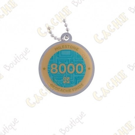 """Travel tag """"Milestone"""" - 8000 Finds"""