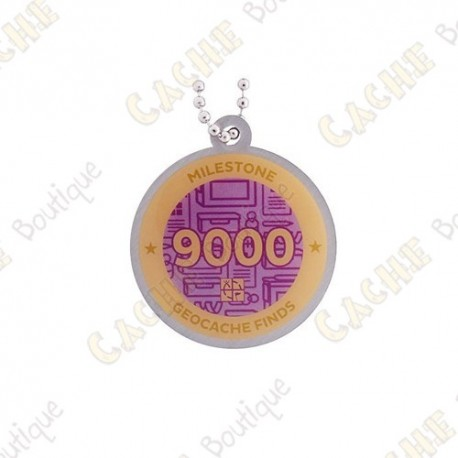 "Travel tag ""Milestone"" - 9000 Finds"