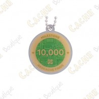 """Travel tag """"Milestone"""" - 10 000 Finds"""