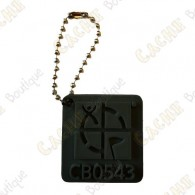 Traveler Logo Geocaching 3D - Preto