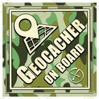 "Sticker ""Geocacher on board"""