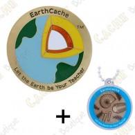 """Geocoin """"EarthCache™"""" + Travel Tag"""