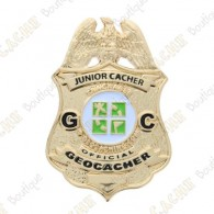 "Geocoin ""Official Junior Geocacher Badge"""