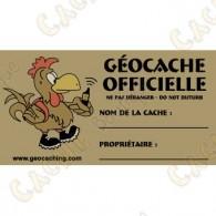 Sticker para caches  el 100 % francófono