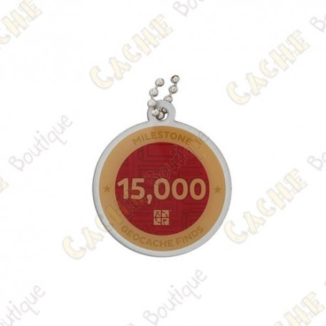 """Travel tag """"Milestone"""" - 15 000 Finds"""