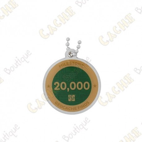"""Travel tag """"Milestone"""" - 20 000 Finds"""